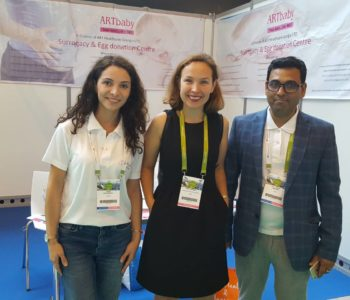 Arina Rogozina (Center), International health manager Eshre 2018