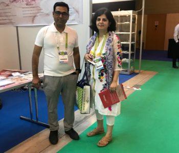 Dr. Richa Sharma with Team ARTbaby ( booth 010)