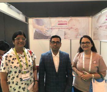 Dr. Sudha prasad IVF specialist, with Team ARTbaby at Eshre 2018