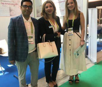 Saghar kasiri, institut marques with team ARTbaby at Eshre 2018
