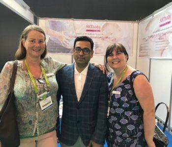 Sandra Bateman (CEO), The N F S with Ravi sharma at Eshre 2018