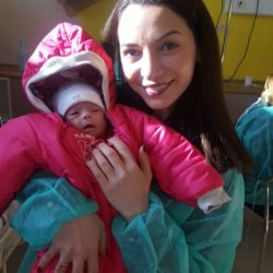 Tamuna, ARTbaby Georgia staff holding Canadian surrogate baby: Pic Surrogacy success story