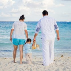 surrogate Baby and Parent: a day on the beach